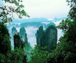 Der Nationale Waldpark Zhangjiajie